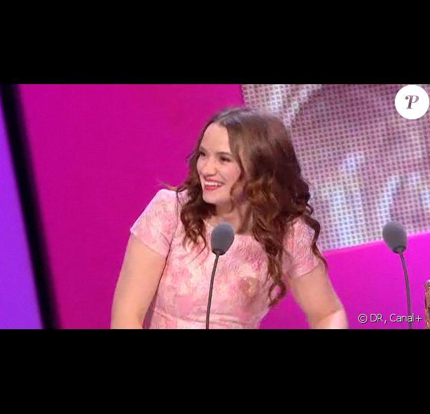 Sara Forestier est honorée du prix de la Meilleure actrice pour son rôle dans Le Nom des Gens, lors de la 36e nuit des César, vendredi 25 février 2011.
