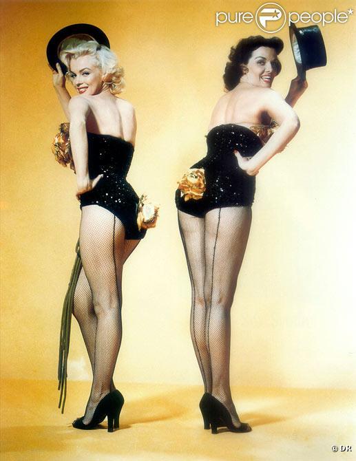 Jane Russell et Marilyn Monroe dans Les Hommes Préfèrent Les Blondes d'Howard Hawks