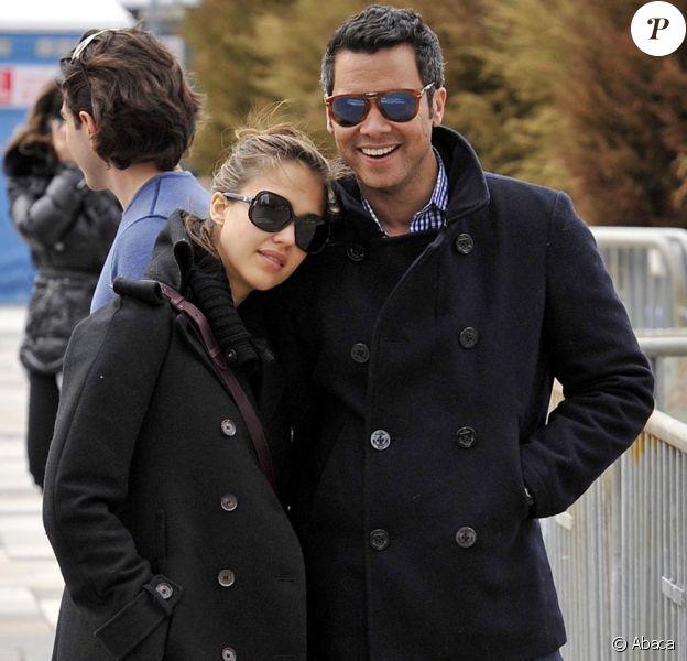 Jesica Alba enceinte, son mari et leur fille Honor, une jolie famille à New York