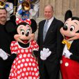 John Travolta, Michael Eisner, Mickey et Minnie