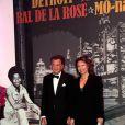 Michel Dotta et son épouse au Bal de la Rose 2011, le 19 mars, à Monaco.