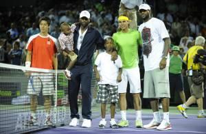 Rafael Nadal : LeBron James et Dwyane Wade en famille sont ses groupies !