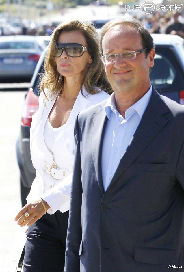 Valérie Trierweiler et François Hollande, La Rochelle, le 29 août 2010.