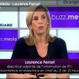 Laurence ferrari invitée dans Le Buzz média