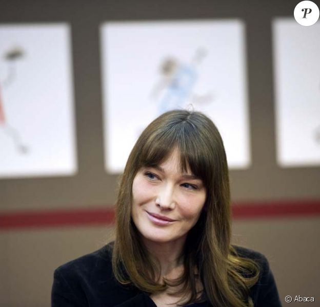 Carla Bruni-Sarkozy, Salon du Livre de Paris, le 18 mars 2011.