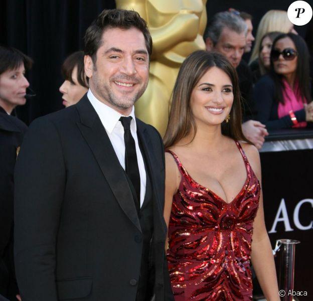 Penélope Cruz et Javier Bardem lors des Oscars en février 2011