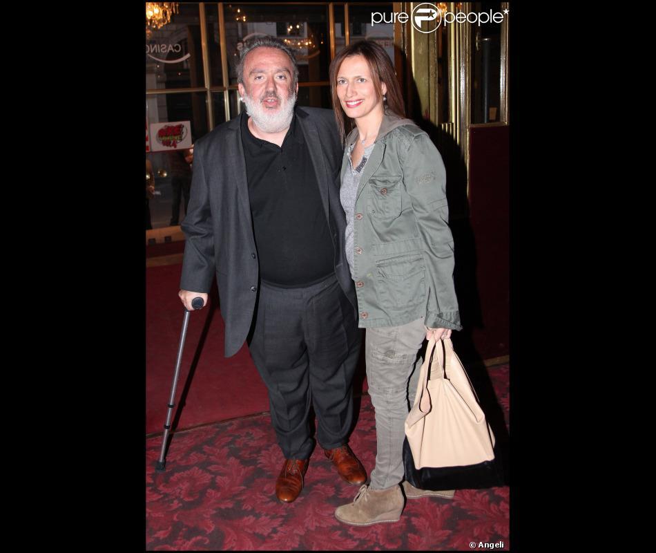 dominique farrugia et son pouse isabelle lors du spectacle de j r me commandeur au casino de. Black Bedroom Furniture Sets. Home Design Ideas