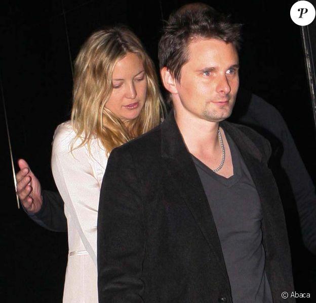 Kate Hudson et Matthew Bellamy après le concert de U2, à Sao Paulo, le 10 avril 2011.