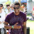 Usher assiste au Festival de Coachella, vendredi 15 avril 2011, à Indio (Californie).