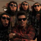 """Bruno Mars : Des singes pros de la danse hip-hop dans le clip de """"Lazy Song"""" !"""