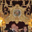 Caroline de Monaco se rend au Théâtre de La Fenice, à Venise, pour admirer le ballet Cendrillon. 28 avril 2011