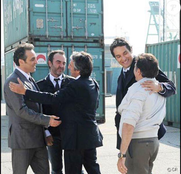 Gilbert Melki, Bruno Solo, Richard Anconina, Vincent Elbaz et José Garcia dans les premières images de La Vérité si je mens 3 !, en salles le 1er février 2012.
