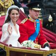 Kate Middleton et le prince William, le jour de leur mariage, le 29 avril 2011, à Londres.