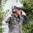 Johnny Hallyday à Santa Monica le 17 avril 2011