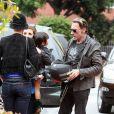 Johnny Hallyday face à sa fille Jade à Santa Monica le 17 avril 2011