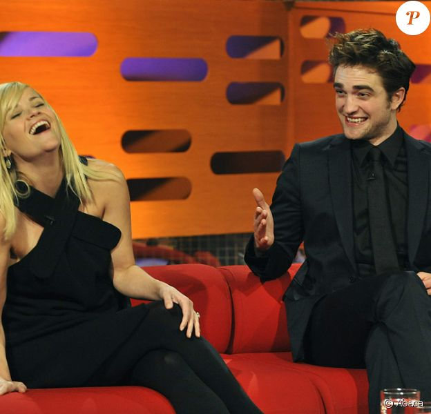 Reese Witherspoon et Robert Pattinson lors de l'enregistrement de l'émission The Graham Norton Show à Londres le 3 mai 2011