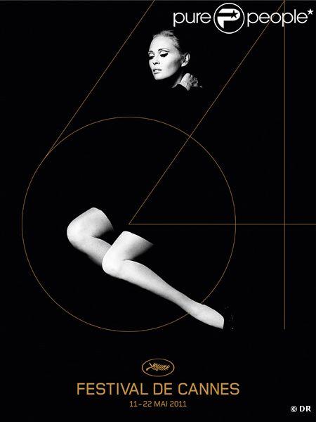 L'affiche du Festival de Cannes 2011 met en valeur le visage et les jambes de la divine Faye Dunaway