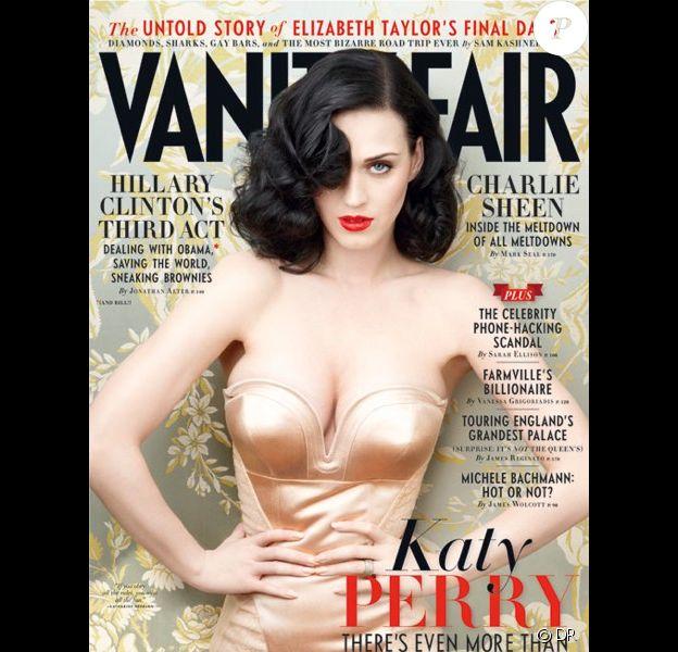 Katy Perry sur la couverture du magazine Vanity Fair, édition US, juin 2011, photographiée par Annie Leibovitz