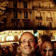 François Hollande au concert en l'honneur des 30 ans de l'élection de François Mitterrand, le 10 mai 2011 sur la place de la Bastille à Paris