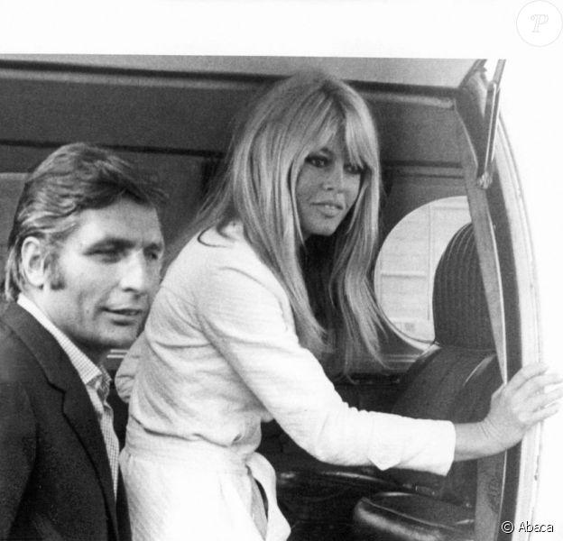 Brigitte Bardot et Gunter Sachs le 14 juillet 1966, à Munich.