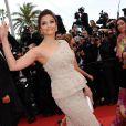 Aishwarya Rai lors de la cérémonie d'ouverture du 64ème Festival de Cannes, le 11 mai 2011