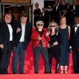 L'équipe du film lors de la projection du film Le Havre au festival de Cannes le 18 mai 2011