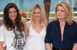 Cannes 2011 : Catherine Deneuve avec Chiara et Ludivine, un trio solaire !
