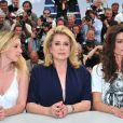 Ludivine Sagnier, Catherine Deneuve et Chiara Mastroianni lors du photocall du film Les Bien-aimés au festival de Cannes le 21 mai 2011