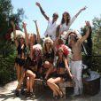Christian Audigier fête ses 53 ans entouré de sa belle le mannequin brésilien Nathalie Sorensen et de jolis hôtesses dans son ranch de Topanga Canyon à Malibu le samedi 21 mai 2011