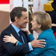 Nicolas  Sarkozy et Angela Merkel, lors du sommet du G8 à Deauville, le 26 mai  2011.