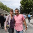 Nagui et son épouse Mélanie Page au tournoi de Roland-Garros, le lundi 30 mai 2011.