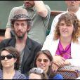 Arthur H et sa femme au tournoi de Roland-Garros, le lundi 30 mai 2011.
