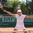 La journaliste de Teva, Marine Vignes, a remporté la final femme du Trophée des Personnalités à Roland Garros contre Anne-Sophie Lapix... Bravo ! Le 1er juin 2011
