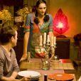 Vincent Perez, Roxane Depardieu et Iman Perez sur le tournage du film Un Baiser papillon