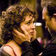 Valeria Golino et Vincent Perez sur le tournage du film Un Baiser papillon