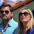 Clovis Cornillac et sa douce compagne Lilou Fogli à Roland-Garros, le 3 juin 2011