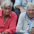 Jean-Paul Belmondo avec son grand ami Charles Gérard à Roland-Garros, le 3 juin 2011