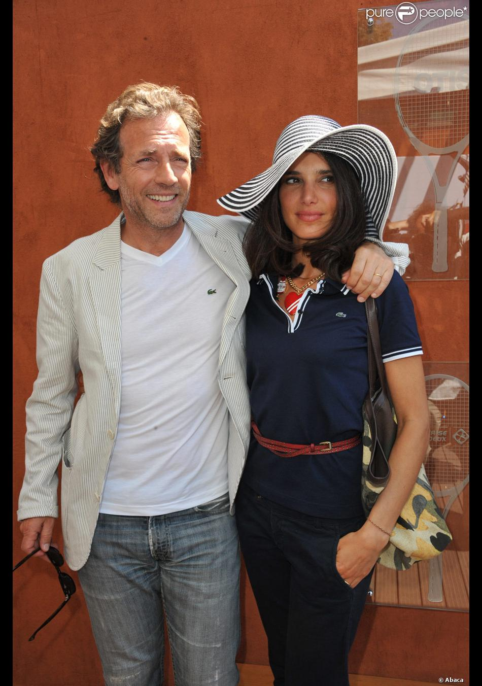 st phane freiss et sa femme ursula roland garros le 3 juin 2011 purepeople. Black Bedroom Furniture Sets. Home Design Ideas