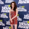 Kristen Stewart lors des MTV Movie Awards qui se sont tenus au Gibson Theatre de Los Angeles, le 5 juin 2011.