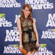 Emma Stone lors des MTV Movie Awards qui se sont tenus au Gibson Theatre de Los Angeles, le 5 juin 2011.