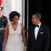 Barack Obama : Entre sa superbe Michelle et Angela Merkel, il est conquis !