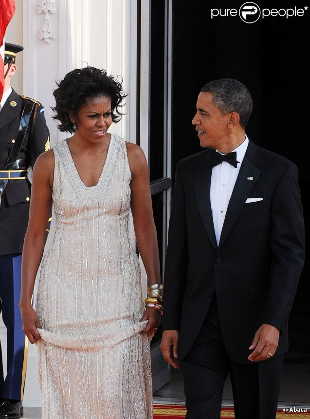Barack obama entre sa superbe michelle et angela merkel for Barack obama maison blanche