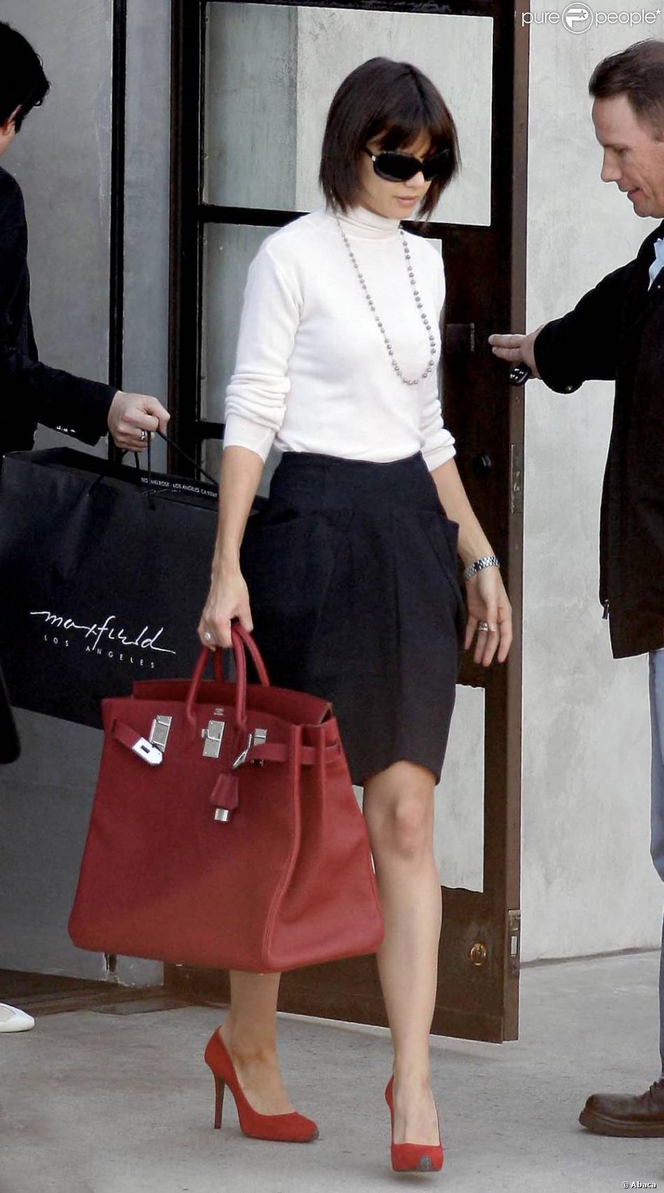 white hermes bag - Katie Holmes a d��j�� prouv�� son amour pour la marque de ...