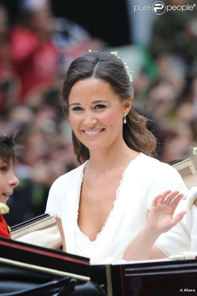 Pippa Middleton lors du mariage de Kate et William, le 29 avril 2011.
