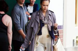 Jessica Alba : Tendres moments en famille pour la future maman