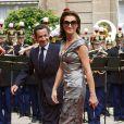 Cécilia et Nicolas Sarkozy, à l'époque de leur mariage, le 14 juillet 2007
