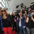 David et Cathy Guetta arrivent à Ibiza, mai 2011.