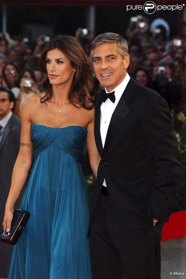 George Clooney et Elisabetta Canalis, à Venise, le 8 septembre 2009.