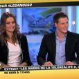 Matthieu Delormeau et Jeny Priez sur le plateau des Anges de la télé-réalité : Miami Dreams le 24 juin 2011 sur NRJ 12
