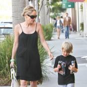 Sharon Stone : Séance shopping avec Laird, futur Dark Vador !